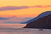 Appalachian Mountains along St. Lawrence Bay.  Cape Breton Island. <br /><br />Nova Scotia<br />Canada