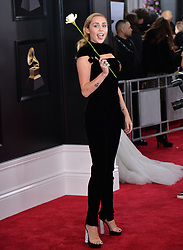 Miley Cyrus attends the 60th Annual GRAMMY Awards at Madison Square Garden on January 28, 2018 in New York City. Photo by Lionel Hahn/ABACAPRESS.COM