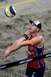 Christian Sørum NOO in action during the second day of the beach volleyball event King of the Court at Jaarbeursplein on September 10, 2020 in Utrecht.