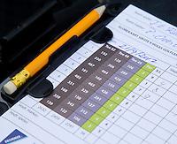 AMSTELVEEN - scorekaart, . FOTO KOEN SUYK.