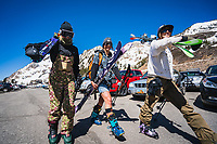 Is it spring skiing with out jorts? Ask Sophie and company, Alta.