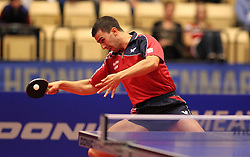 20.10.2012, MGH Arena, Herning, DEN, ETTU, Tischtennis Europameisterschaft, im Bild Andrej GACINA (CRO) bei der Ballannahme// during the Table Tennis European Championships at the MGH Arena, Herning, Denmark on 2012/10/20. EXPA Pictures © 2012, PhotoCredit: EXPA/ Eibner/Wuest..***** ATTENTION - OUT OF GER *****