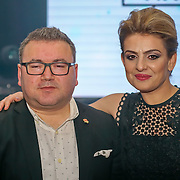 Raife Dogus (R) attends the 5th British Kebab Awards at Park Plaza Westminster ,London,UK. by See Li