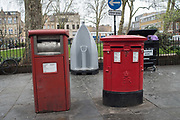 Letter boxes and urinal, Hoxton Sq. London. 10 March 2017