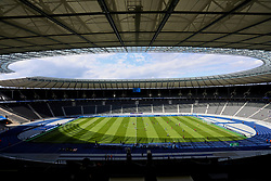 BERLIN, GERMANY - Saturday, July 29, 2017: A general view of the Olympic Stadium before a preseason friendly match celebrating 125 years of football for Liverpool and Hertha BSC Berlin at the Olympic Stadium. (Pic by David Rawcliffe/Propaganda)