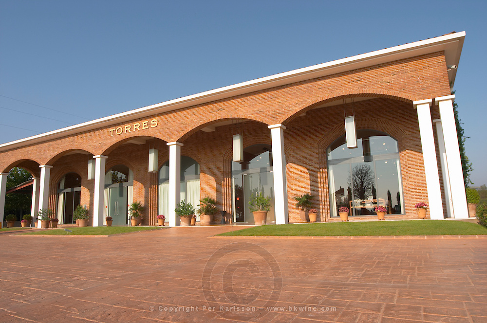 The entrance and reception. Torres Penedes Catalonia Spain