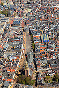Nederland, Groningen, Groningen, 01-05-2013; Groningen-stad, centrum. Vismarkt met De Korenbeurs, A-kerkhof met der Aa-kerk. Boven in beeld Grote Markt, stadhuis en Martinitoren.<br /> View on the city of Groningen, old town. Der Aa-kerk (church) and the City Hall (top pic).<br /> luchtfoto (toeslag op standard tarieven)<br /> aerial photo (additional fee required)<br /> copyright foto/photo Siebe Swart