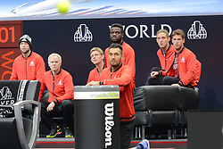 September 22, 2018 - Chicago, Illinois, United States - Members of Team World look on during A. Zverev's match v. J. Isner  in the 2018 Laver Cup tennis event in Chicago. (Credit Image: © Christopher Levy/ZUMA Wire)