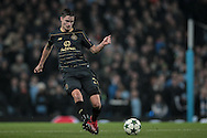 Mikael Lustig (Celtic) during the Champions League match between Manchester City and Celtic at the Etihad Stadium, Manchester, England on 6 December 2016. Photo by Mark P Doherty.