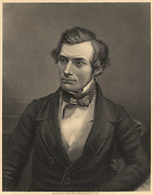 Thomas Graham (1805-1869) Scottish chemist who laid the foundations of physical chemistry. From James Sheridan Muspratt 'Chemistry' (London, c1860). Engraving.  British.