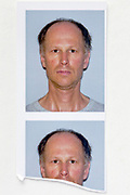 identity style  head and shoulder portrait photo strip
