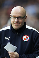 Brian McDermott, the Reading manager arrives at pitch side before k/o. Skybet football league championship match, Reading  v Blackburn Rovers at The Madejski Stadium  in Reading, Berkshire on Sunday 20th December 2015.<br /> pic by John Patrick Fletcher, Andrew Orchard sports photography.