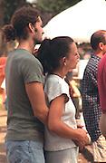 Couple age 23 participating in the Cedarfest Summer Music Festival.  Minneapolis Minnesota USA