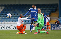 Blackpool's Sullay Kaikai just fails to get on the end of a cross<br /> <br /> Photographer Rob Newell/CameraSport<br /> <br /> The EFL Sky Bet League One - Gillingham v Blackpool - Saturday 26th September 2020 - Priestfield Stadium - Gillingham<br /> <br /> World Copyright © 2020 CameraSport. All rights reserved. 43 Linden Ave. Countesthorpe. Leicester. England. LE8 5PG - Tel: +44 (0) 116 277 4147 - admin@camerasport.com - www.camerasport.com