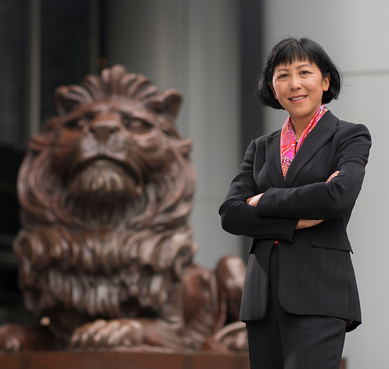Jeanie Yuen, Managing Director Regional Head of Investment Management & Funds poses at the HSBC headquarters in Hong Kong on the 18th March, 2014. Photo by Victor Fraile / studioEAST<br /> Lighting & Post production by Mike Pickles / studioEAST