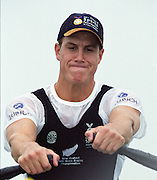St Catharines, Ontario, CANADA 1999 World Rowing Championships. NZL M1X, Rob Waddell, Men's single sculls [Mandatory Credit Peter Spurrier Intersport Images] 1999 FISA. World Rowing Championships, St Catherines, CANADA