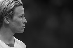 June 28, 2019 - Paris, France - Megan Rapinoe (Reign FC) of United States during the 2019 FIFA Women's World Cup France Quarter Final match between France and USA at Parc des Princes on June 28, 2019 in Paris, France..(Editors note: this image has been converted to black and white) (Credit Image: © Jose Breton/NurPhoto via ZUMA Press)