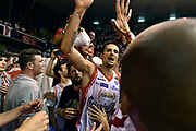 DESCRIZIONE : Reggio Emilia Lega A 2014-15 Grissin Bon Reggio Emilia - Banco di Sardegna Dinamo Sassari playoff Finale gara 5 <br /> GIOCATORE : Andrea Cinciarini<br /> CATEGORIA : esultanza postgame<br /> SQUADRA : Grissin Bon Reggio Emilia<br /> EVENTO : LegaBasket Serie A Beko 2014/2015<br /> GARA : Grissin Bon Reggio Emilia - Banco di Sardegna Dinamo Sassari playoff Finale gara 5<br /> DATA : 22/06/2015 <br /> SPORT : Pallacanestro <br /> AUTORE : Agenzia Ciamillo-Castoria/GiulioCiamillo<br /> Galleria : Lega Basket A 2014-2015 Fotonotizia : Reggio Emilia Lega A 2014-15 Grissin Bon Reggio Emilia - Banco di Sardegna Dinamo Sassari playoff Finale  gara 5<br /> Predefinita :