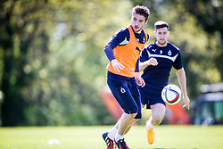 Falkirk's Luke Leahy. Falkirk FC training at Swansea's training pitches, before next weeks Cup Final.