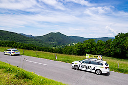 Frutabela car and Sveta gora in background during the 4th Stage of 27th Tour of Slovenia 2021 cycling race between Ajdovscina and Nova Gorica (164,1 km), on June 12, 2021 in Slovenia. Photo by Matic Klansek Velej / Sportida