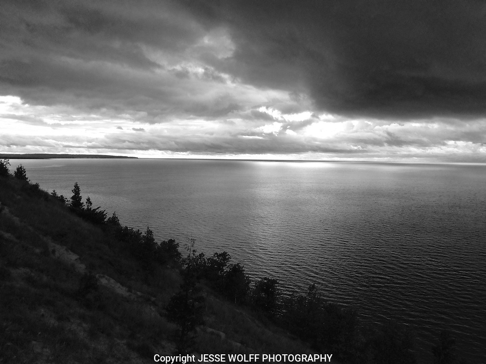 Lake Michigan Black and White Photo