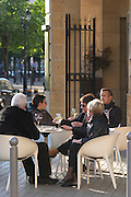 restaurant terrace people drinking wine civb le bar a vin allees tourny bordeaux france