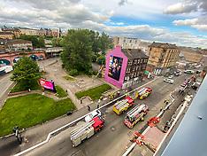 Smoking World ablaze, Glasgow, 16 May 2020