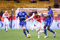January 19, 2019 - Monaco, France - 11 DIMITRI LIENARD (STRA) - 09 RADAMEL FALCAO (MONA) - 22 YOUSSOUF FOFANA  (Credit Image: © Panoramic via ZUMA Press)