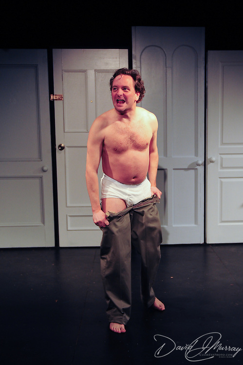 Chris Curtis as Beane, in a scene from the Harbor Light Stage production of Love Song, a play by John Kolvebnbach, directed by Kent Stephens at The Music Hall Loft in Portsmouth, NH, May, 2011