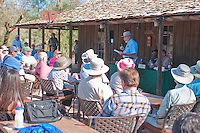 Ed Rothfuss, superintendent of Death Valley National Park from 1982-1994, speaks to visitors at the Grand Re-Opening of the Furnace Creek Visitor Center on November 4, 2012.