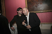 MATT THORNE AND TIBOR FISCHER, Literary Review's Bad Sex In Fiction Prize.  In & Out Club (The Naval & Military Club), 4 St James's Square, London, SW1, 29 November 2006. <br />