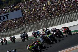 November 12, 2017 - Valencia, Valencia, Spain - Star race of Moto2 during of the Gran Premio Motul de la Comunitat Valenciana, Circuit of Ricardo Tormo,Valencia, Spain. Saturday 12th of november 2017. (Credit Image: © Jose Breton/NurPhoto via ZUMA Press)