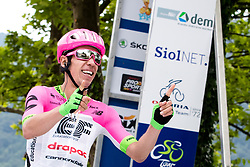 Rigoberto Uran of Team EF Education Cannondale celebrates winning the race during 3rd Stage of 25th Tour de Slovenie 2018 cycling race between Slovenske Konjice and Celje (175,7 km), on June 15, 2018 in  Slovenia. Photo by Matic Klansek Velej / Sportida