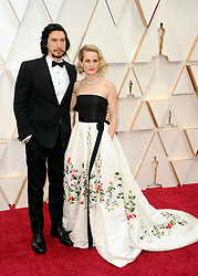 Adam Driver and Joanne Tucker at the 92nd Academy Awards held at the Dolby Theatre in Hollywood, USA on February 9, 2020.