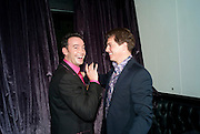 Craig Revel Horwood; John Barrowman, After party for  La Cage Aux Folles which opened at the Playhouse Theatre. Jewel. Maiden Lane. Covent Garden. London. 5 October 2009