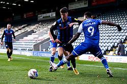 Alex Newby of Rochdale takes on Brandon Hanlan of Bristol Rovers - Mandatory by-line: Robbie Stephenson/JMP - 31/10/2020 - FOOTBALL - Crown Oil Arena - Rochdale, England - Rochdale v Bristol Rovers - Sky Bet League One