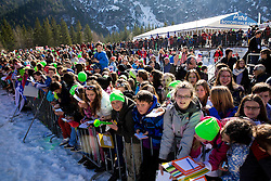 Young fans during Large Hill Individual Qualification Event at 1st day of FIS Ski Jumping World Cup Finals Planica 2014, on March 20, 2014 in Planica, Slovenia. Photo by Vid Ponikvar / Sportida