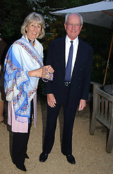 MR & MRS GERALD WARD he is Prince Williams Godfather, at the annual Cartier Flower Show Diner held at The Physics Garden, Chelsea, London on 23rd May 2005.<br /><br />NON EXCLUSIVE - WORLD RIGHTS