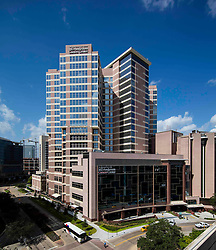 MD Anderson Cancer Center Pavilion Building at the Texas Medical Center in Houston, Texas.