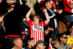 Exeter City fans - Mandatory by-line: Robbie Stephenson/JMP - 14/05/2017 - FOOTBALL - Brunton Park - Carlisle, England - Carlisle United v Exeter City - Sky Bet League Two Play-off Semi-Final 1st Leg