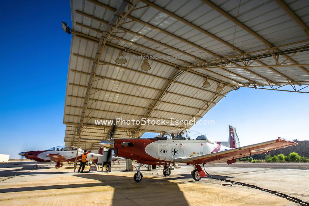 Israeli Air force Flight Academy Beechcraft T-6A Texan II (Efrony) on the ground
