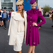 09.10.2016           <br /> Attend the Keanes Jewellers Best dressed competition at Limerick Racecourse were, Tasha O'Connor, Templeglantine Co. Limerick and Sharon Kennedy, Claireview Co. Limerick. Picture: Alan Place