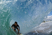 29 April 2011: Mitch Parkinson in the barrel at Snapper Rocks on the Gold Coast. Photo by Matt Roberts