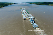 63807-01206 Barge on the Mississippi river near Thebes, IL
