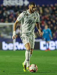 February 24, 2019 - Valencia, Valencia, Spain - Benzema of Real Madrid  in action during La Liga Spanish championship, football match between Levante and Real Madrid, February 24th, Ciudad de Valencia stadium, in Valencia, Spain. (Credit Image: © AFP7 via ZUMA Wire)