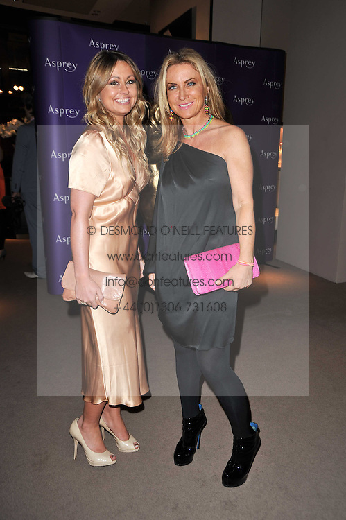 Left to right, SARAH BARRAND and MEG MATTHEWS at the BAFTA Nominees party 2011 held at Asprey, 167 New Bond Street, London on 12th February 2011.