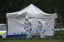 © Licensed to London News Pictures. 25/05/2018. Sheffield, UK. Picture shows the scene in Sheffield where A 15 year old boy has died after being stabbed on Lowedges road in Sheffield. The boy was taken to hospital last night but died just after 20:50pm. Photo credit: Andrew McCaren/LNP