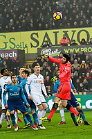 Football - 2017 / 2018 Premier League - Swansea City vs. Arsenal<br /> <br /> Petr Cech of Arsenal saves , at The Liberty Stadium.<br /> <br /> COLORSPORT/WINSTON BYNORTH