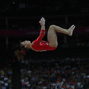 Vanessa Ferrari, Italy, in action on the Balance Beam during the Women's Individual All-Around competition at North Greenwich Arena, during the London 2012 Olympic games. London, UK. 2nd August 2012. Photo Tim Clayton