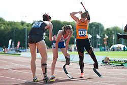 BENSUSAN Irmgard, Marie-Amelie Le Fur, van GANSEWINKEL Marlene, 2014 IPC European Athletics Championships, Swansea, Wales, United Kingdom